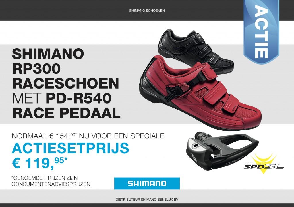 04 Shimano RP300 raceschoenen en pedaal NL